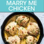 SIX CHICKEN BREASTS AND SAUCE IN A SKILLET