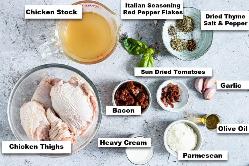 the ingredients needed to make marry me chicken