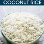 COCONUT RICE IN A BOWL