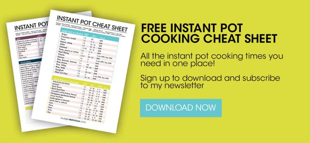 instant pot cheat sheet banner in green