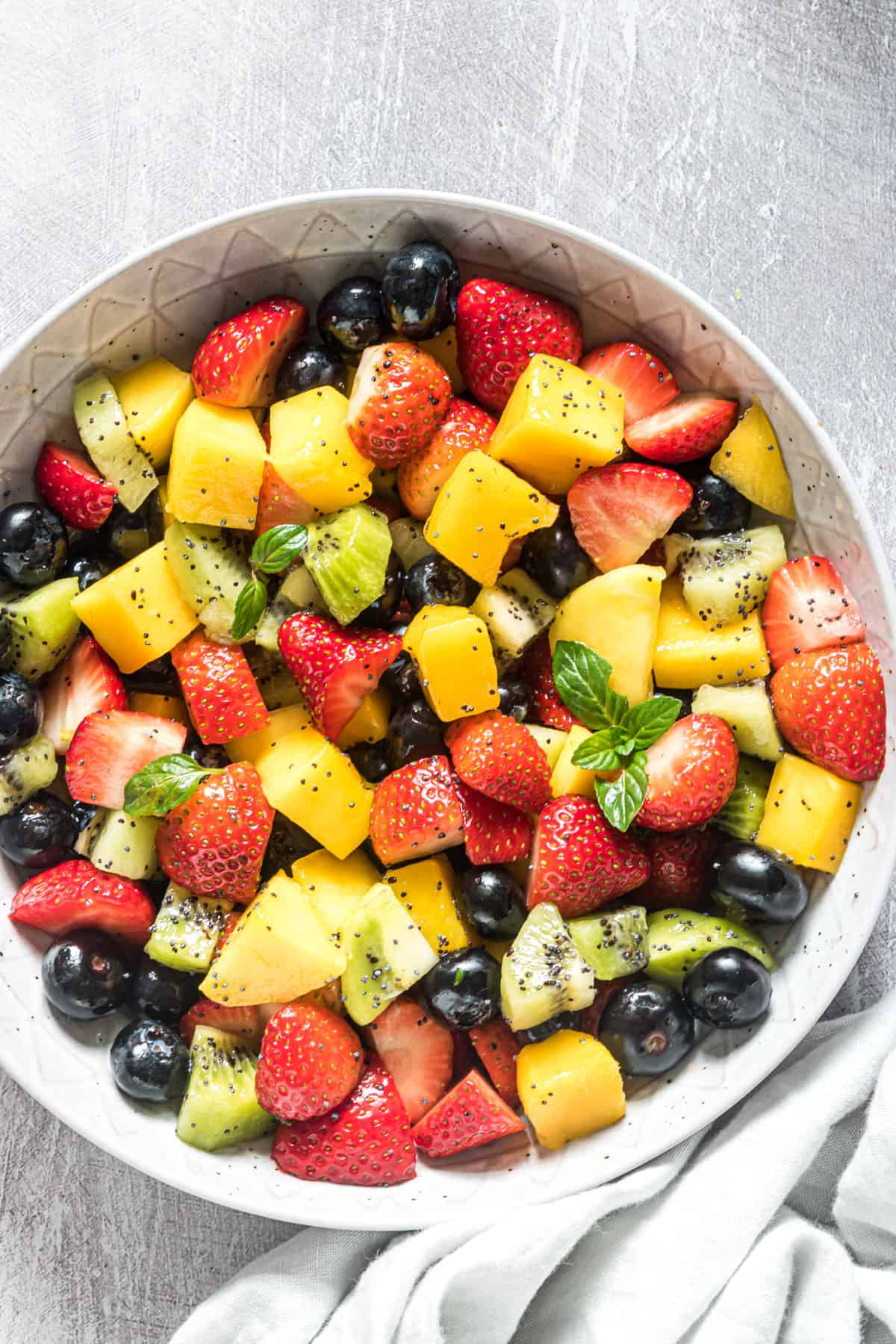 Fruit Salad With Poppy Seed Dressing Budget Delicious