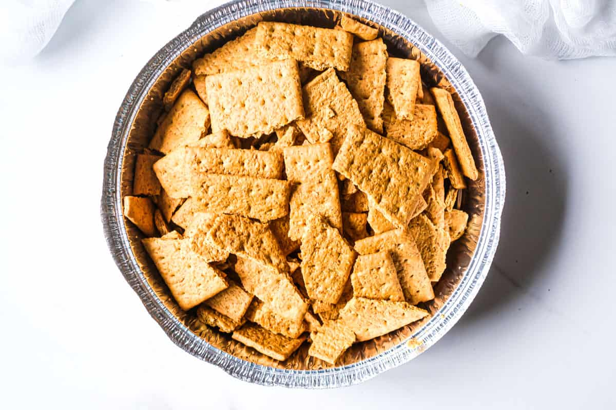 graham crackers in a bowl