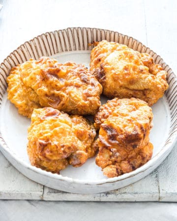 the completed air fryer fried chicken recipe