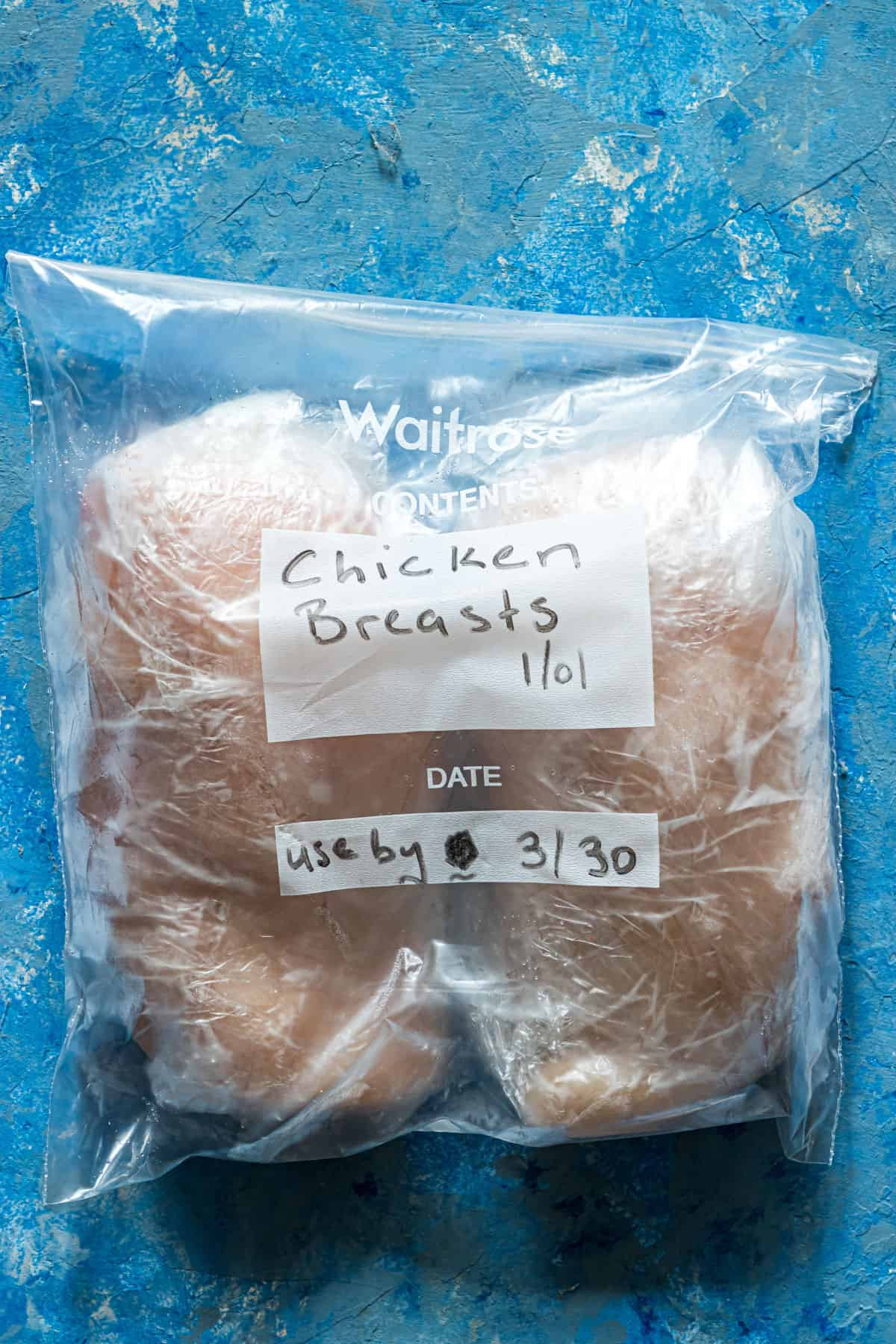 the final step for how to freeze chicken breast