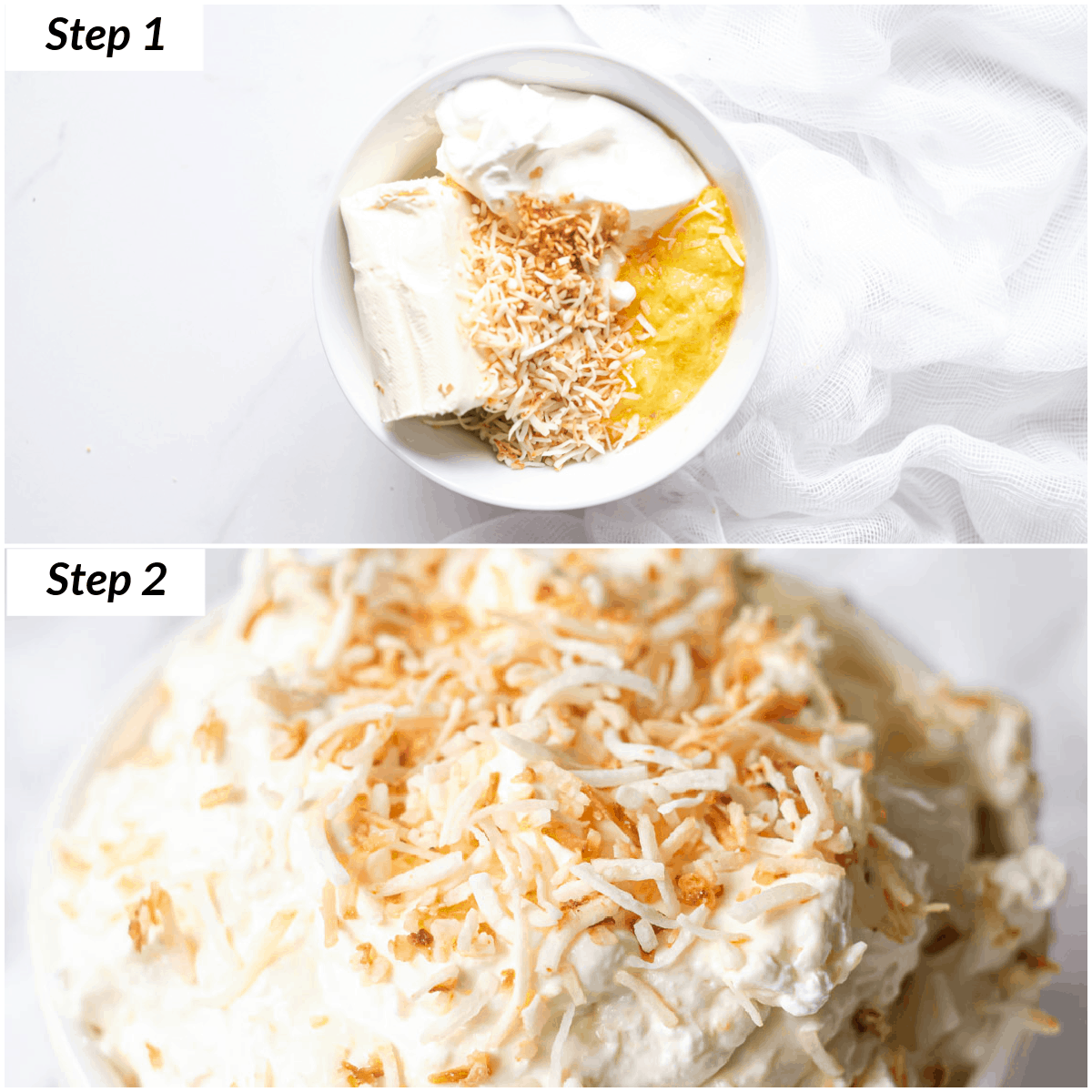the steps for making fruit dip with cream cheese recipe