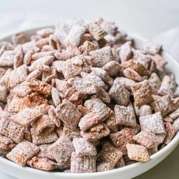 the completed puppy chow recipe