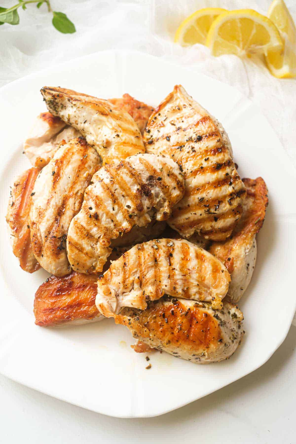 the completed grilled chicken tenders recipe