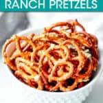 a bowl of pretzels