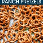 pretzels scattered on a pan