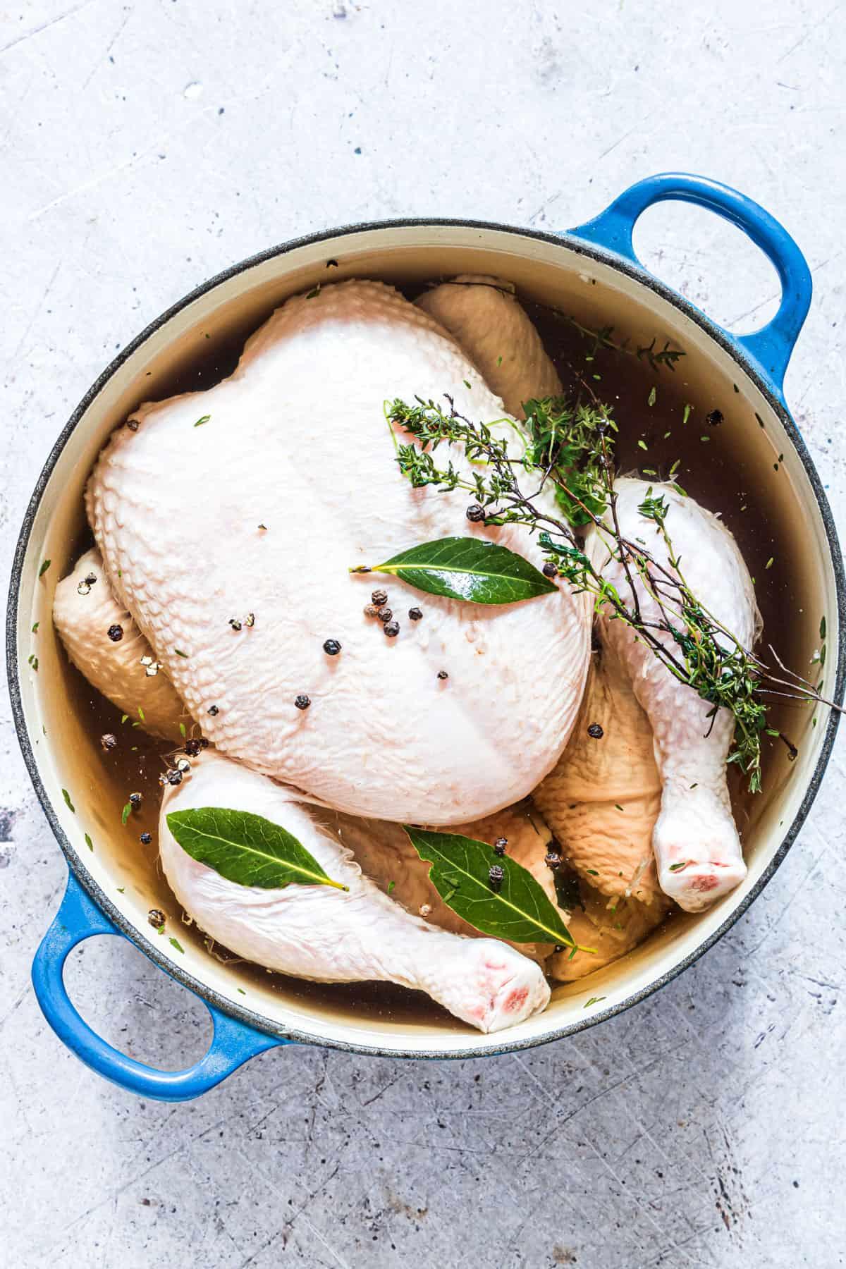 top down view of the chicken brine recipe