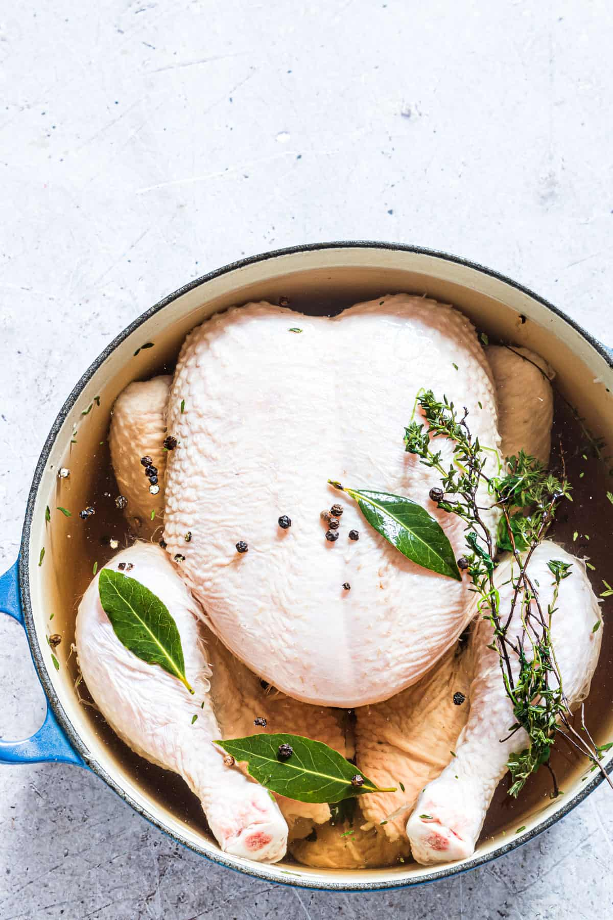 the completed chicken brine recipe