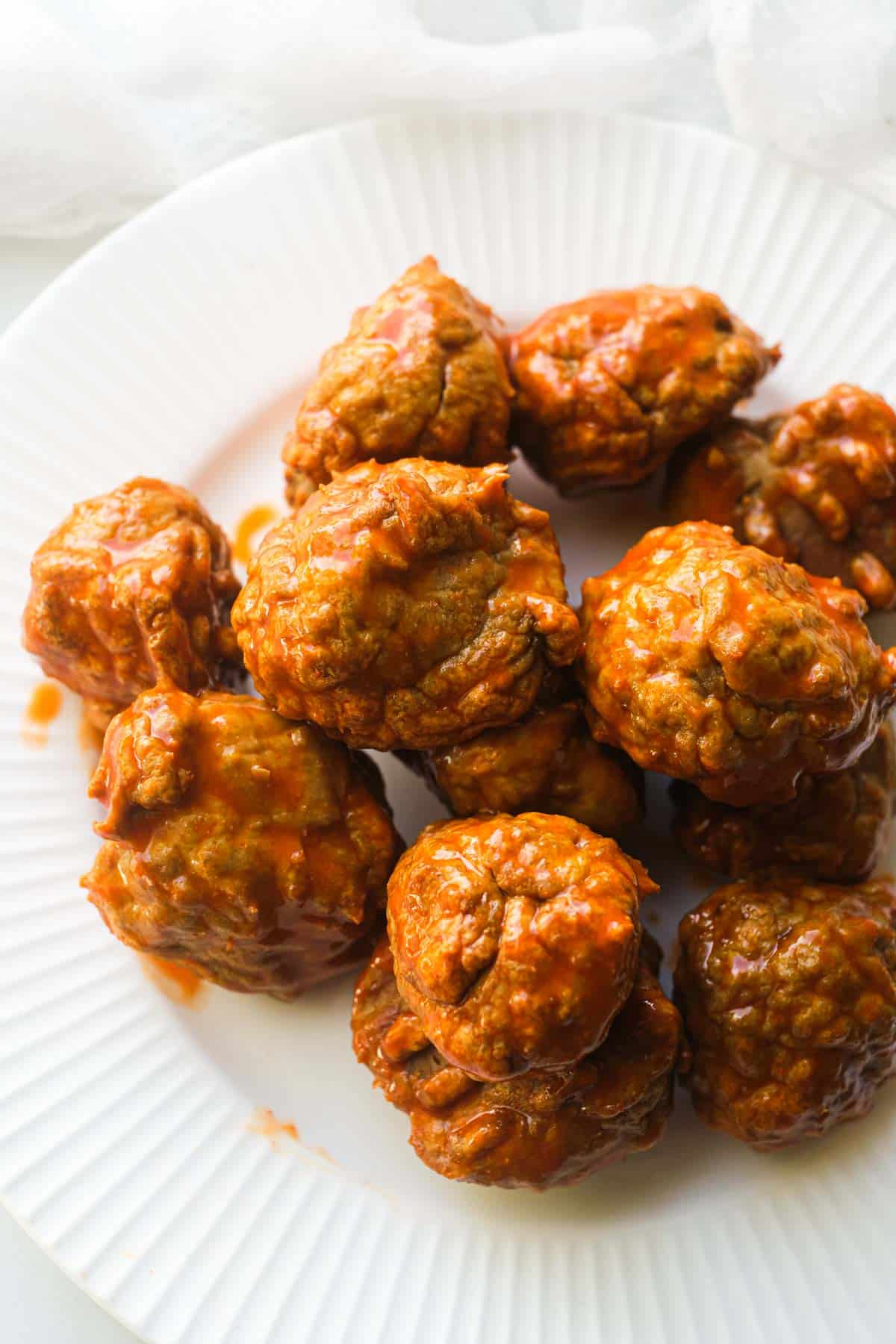 the completed buffalo chicken meatballs recipe