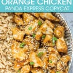 ORANGE CHICKEN AND RICE IN A BOWL